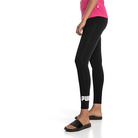Damen Essentials Logo Leggings, Cotton Black, small