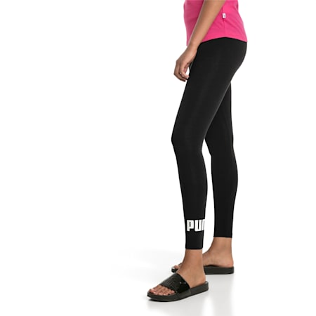 Women's Essentials Logo Leggings, Cotton Black, small