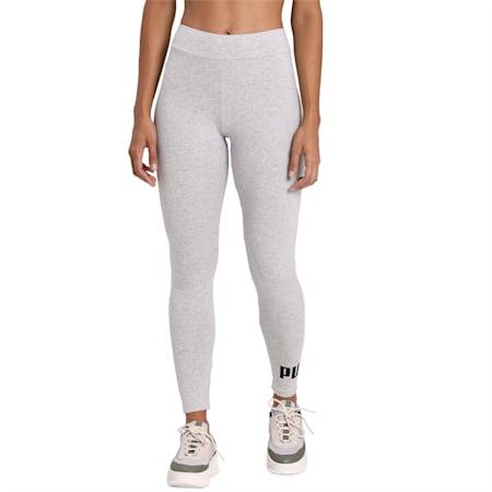 Women's Essentials Logo Leggings, Light Gray Heather, small-IND