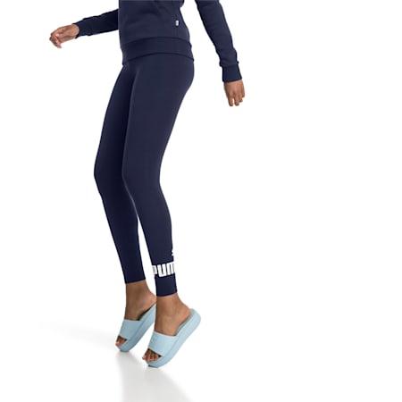 Damen Essentials Logo Leggings, Peacoat, small