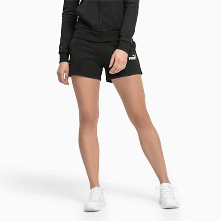 Shorts della tuta Essentials donna, Cotton Black, small