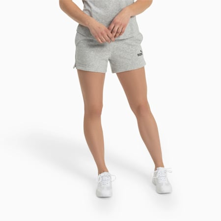 Essentials Damen Sweatshorts, Light Gray Heather, small