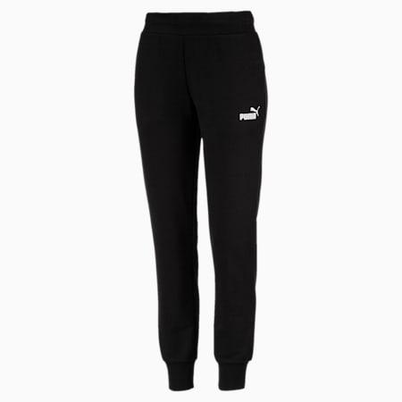 Pantalones deportivos de punto para mujer Essentials, Cotton Black, small
