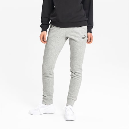 Essential Knitted Women's Sweatpants, Light Gray Heather, small
