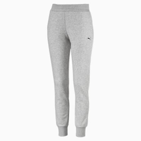 Essential Knitted Women's Sweatpants, Light Gray Heather-Cat, small