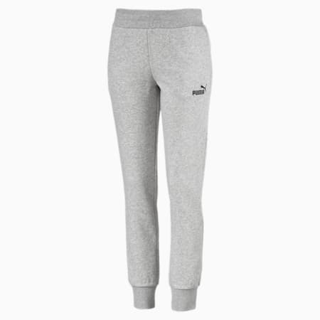 Essentials Damen Fleece Jogginghose, Light Gray Heather, small