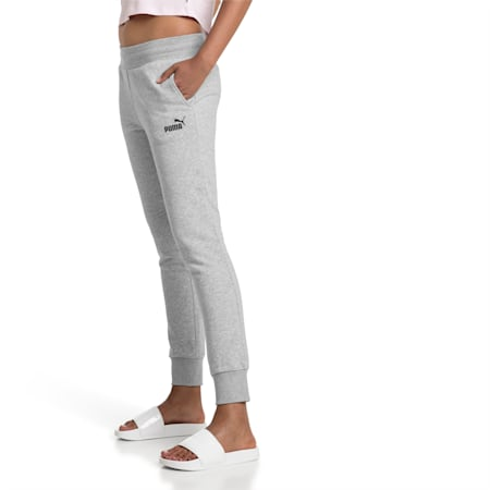 Essentials Damen Fleece Jogginghose, Light Gray Heather, small