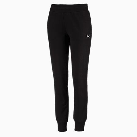 Essentials Fleece Women's Pants, Cotton Black-Cat, small-IND