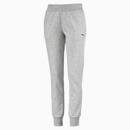 Pantalones Essentials de forro polar para mujer, Light Gray Heather-Cat, small
