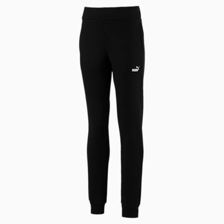 Essentials Girls' Sweatpants, Cotton Black, small