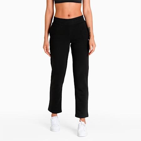 Essentials Women's Sweatpants, Cotton Black-Cat, small-IND