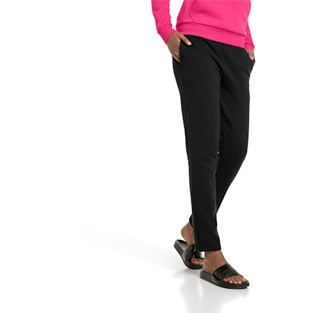 Essentials Fleece Women's Knitted Pants, Cotton Black, small