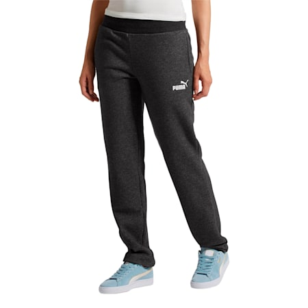 Essentials Fleece Women's Knitted Pants, Dark Gray Heather, small