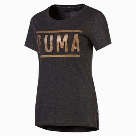 Athletic Women's Tee, DarkGrayHeather-bronzeMedal, small