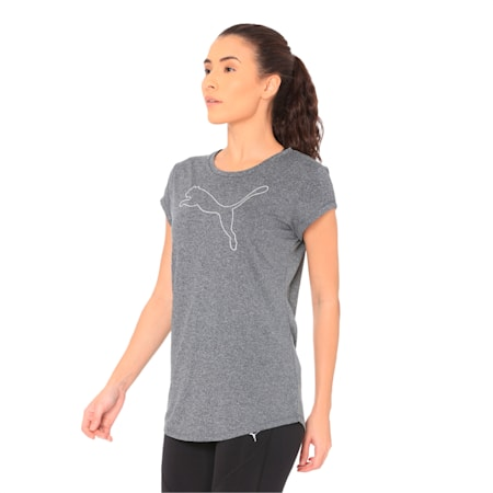 Active Heather dryCELL T-Shirt, Puma Black Heather, small-IND