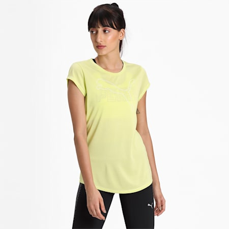 Active Heather dryCELL T-Shirt, Sunny Lime Heather, small-IND