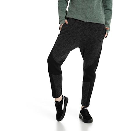 Evostripe Women's Pants, Cotton Black-heather, small-IND