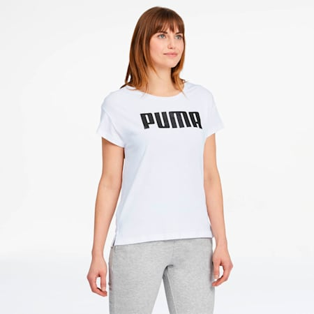 Active Women's Logo Tee, Puma White, small