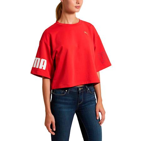 Modern Sport Women's Sweat Tee, Ribbon Red, small