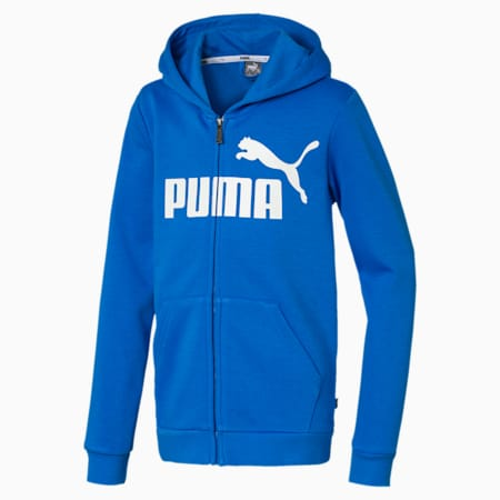 Essentials Hooded Boys' Jacket, Palace Blue, small