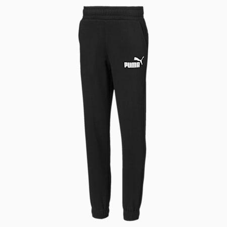 Essentials Boys' Sweatpants, Cotton Black, small