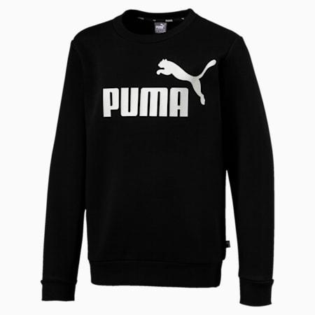 Essentials Boys' Crew Sweater, Cotton Black, small-GBR