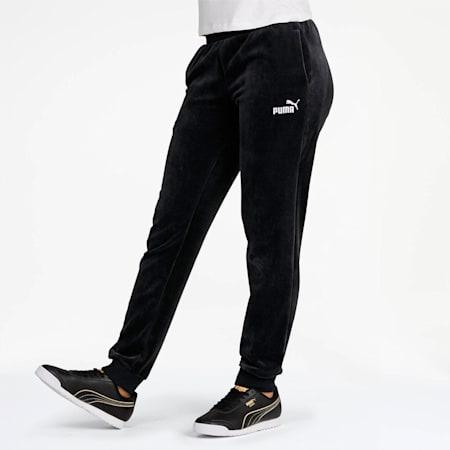 Essentials+ Velour Pants, Cotton Black, small
