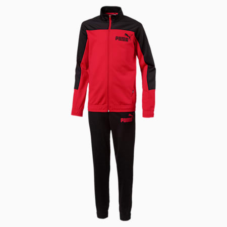 Poly Tricot Suits, closed B, Ribbon Red-Puma Black, small-IND