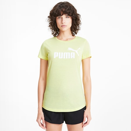 Essentials + Women's Heather Tee, Sunny Lime, small