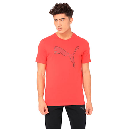 Active P48 Modern Sports Men's Tee, Ribbon Red, small-IND