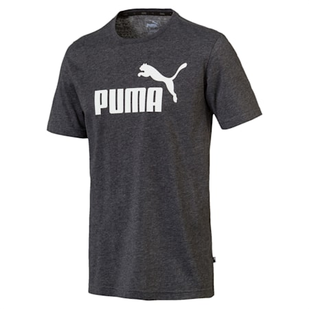 Essentials+ Heather Men's T-Shirt, Puma Black Heather, small-IND