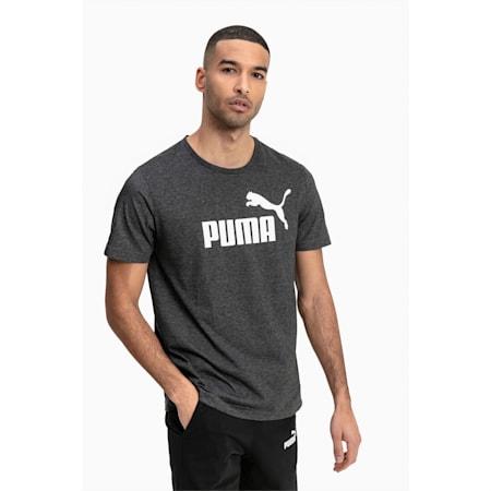 Essentials+ gemêleerd T-shirt voor heren, Puma Black Heather, small