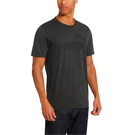 Camiseta Essentials+ Heather, Dark Gray Heather, pequeño