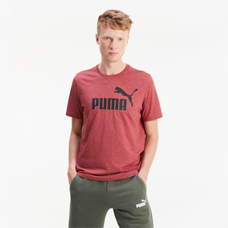 T-Shirt chiné pour homme, Red Dahlia Heather, small