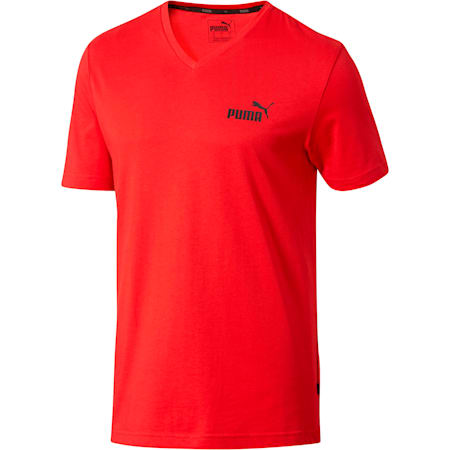 Essentials+ Men's V Neck Tee, Ribbon Red, small