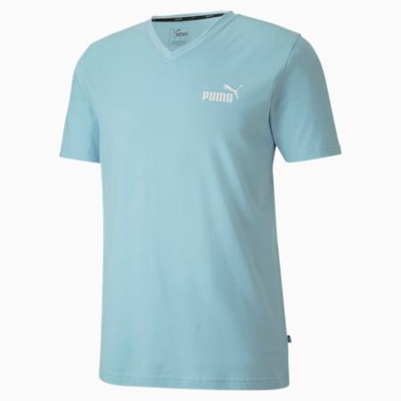 T-shirt con scollo a V Essentials uomo, Aquamarine, small