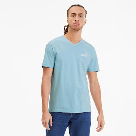 Essentials V-Neck T-shirt voor heren, Aquamarine, small