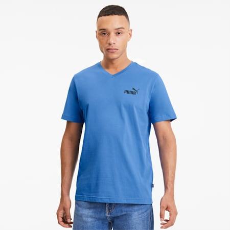 Essentials+ Men's V Neck Tee, Palace Blue, small