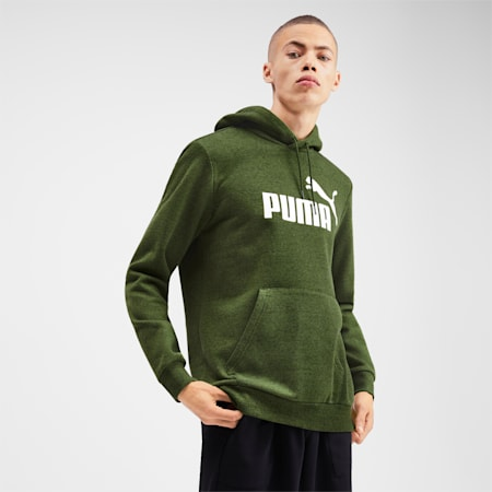 Essentials+ Men's Fleece Hoodie, Garden Green Heather, small