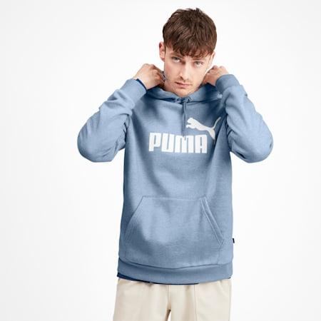 Sudadera Essentials+ con capucha de polar para hombre, DenimHeather estilo desgastado, pequeño