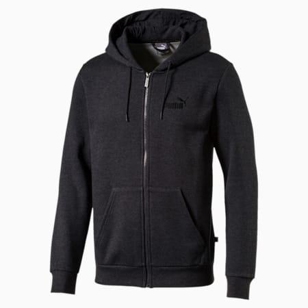 Essentials+ Men's Fleece Hooded Jacket, Dark Gray Heather, small