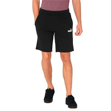 Essentials+ Slim Men's Shorts, Cotton Black, small-IND