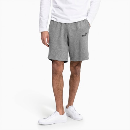 Essentials+ Slim Herren Shorts, Medium Gray Heather, small