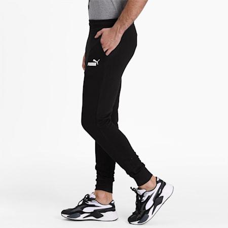 Essentials Men's Slim Fit Sweatpants, Cotton Black, small-IND