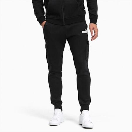 Pantalones Essentials+ con bolsillos para hombre, Cotton Black, pequeño