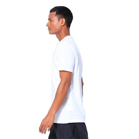 Active Soft Men's Crew Neck T-Shirt, Puma White, small-IND