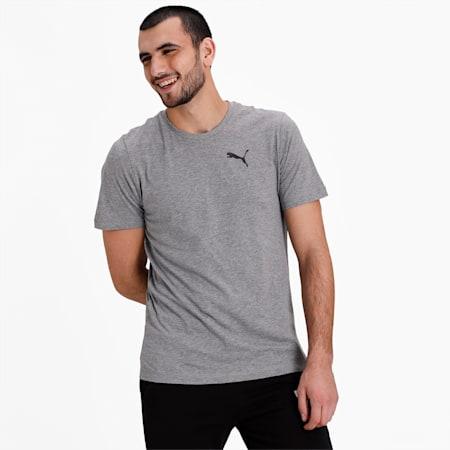 Active Soft Men's Crew Neck T-Shirt, Medium Gray Heather, small-IND