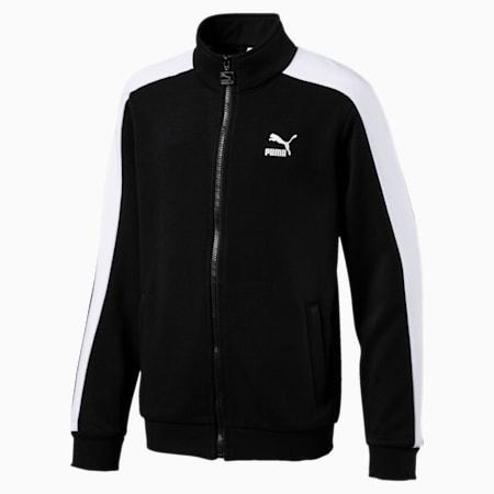 Classics Boys' T7 Track Jacket JR, Cotton Black, small