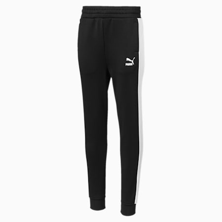 Classics T7 Boys' Track Pants, Cotton Black, small-IND