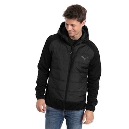 Hybrid Men's Padded Jacket, Puma Black, small-IND